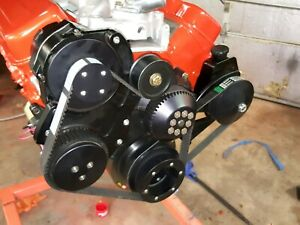 Big Block Chevy Gilmer Pulley System With Power Steering And Air Conditioning