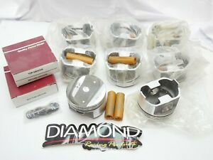 Set Of 8 New Diamond Racing Pistons Chevy 350 020 Over Forged Pop Up 10774l