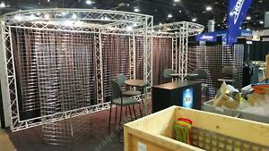 Custom 10 X 20 Trade Show Booth Aluminum Frame Stainless Steel Grid Wall