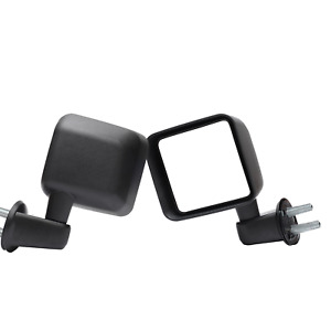 Manual Operate Manual Folding Towing Mirrors Pair For 2007 2017 Jeep Wrangler Jk