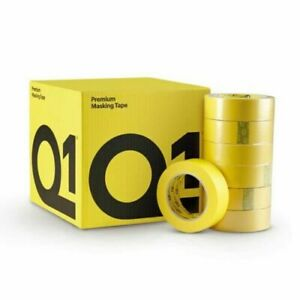 Q1 Premium Yellow Automotive Masking Tape 1 1 2 Case 24 Rolls Clearance Deal