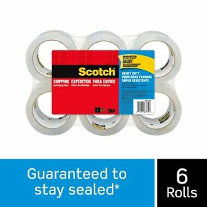 Scotch Brand Heavy Duty Shipping Packaging Tape Great For Packing Shipping