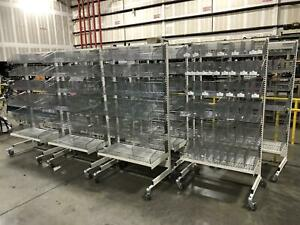 Logiquip Industrial Wire Shelving On Wheels 38 w X 26 d X 76 h