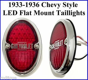 1933 1936 Chevy Style Led Taillights Flat Mount Tails Light Hot Rod Rat Rod