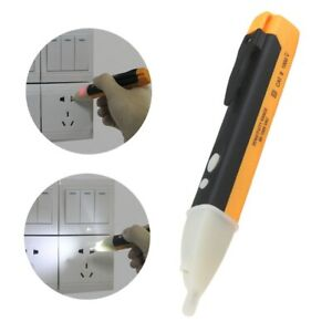 Ac Voltage Tester Pen Non contact Volt Alert Sensor Detector Stick 90 1000v New