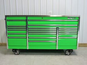 Snap On Extreme Green 84 Epiq All Drawer Tool Box Toolbox Stainless Steel Top