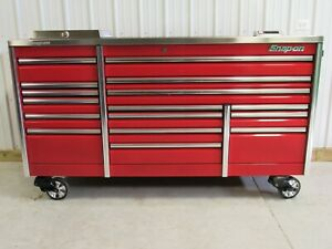 Snap On Candy Apple Red 84 Epiq All Drawer Tool Box Toolbox Stainless Top