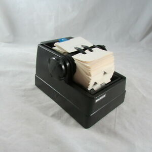 Rolodex Mini Desk Rotary Card File With Blank Cards Guides Set No R2g Vintage