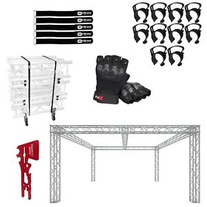 Global Truss 20 x20 Center Beam Trade Show Booth With Accessories
