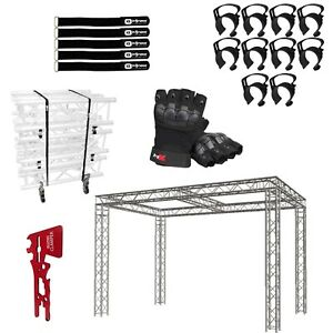 Global Truss 10 x20 x10 Center Beam Trade Show Booth With Accessories