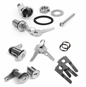 65 66 Mustang Lock Set Doors Ignition And Trunk