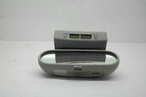 03 10 Volkswagen Beetle Rear View Mirror With Digital Clock Gray