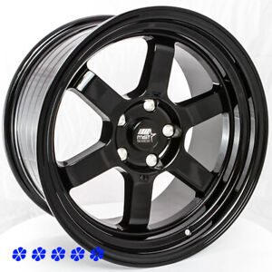 Mst Time Attack 17 X9 20 Black Rims Wheels 5x114 3 06 Stance Acura Rsx 04 08 Tl