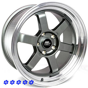Mst Time Attack 17x9 20 Gunmetal Machine Lip Wheels 5x114 3 Stance Toyota Camry