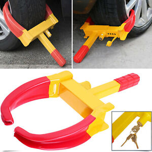 Wheel Lock Clamp Boot Tire Claw Trailer Auto Car Truck Anti Theft Towing Us 2020