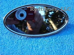 1941 1952 Ford Oval Glue On Rear View Mirror Stainless Steel Polished Rearview