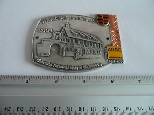 Vintage Porsche 356 Car Tour Club Porcelain Enamel Grille Badge Emblem Sign 2004