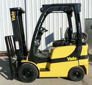 Yale Model Glp040svx 2006 4000 Lbs Capacity Great Pneumatic Tire Forklift