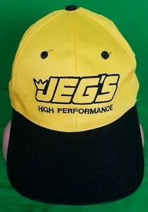 Nice Jegs High Performance Yellow Snapback Hat Car Racing Parts