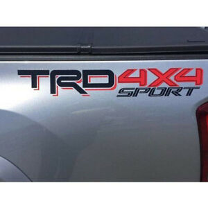 Genuine Oem New Black red Trd 4x4 Sport Bedside Decal For Toyota Tacoma