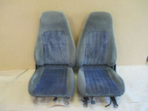 00 02 Camaro Rs Ss Z28 Ebony Cloth Seat Seats Front 0918 9