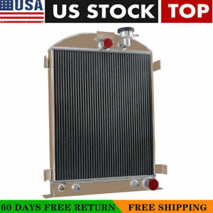 4 Row Radiator For 1928 1939 Ford Model A grille Shells Chevy Engine Pro