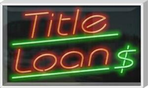 Outdoor Title Loans Neon Sign Outdoor Jantec 37 X 22 Loan Finances