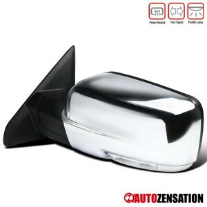 For 2009 2012 Dodge Ram 1500 Chrome Power Heat Left Mirror Led Signal Puddle