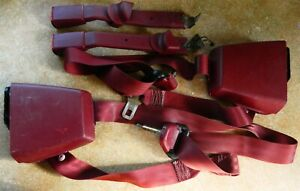 88 94 Gmc Chevy Truck Seat Belt Retractor Receiver Extended Cab Lt Burgundy Set