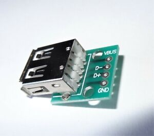 1 Pc Usb Type A Connector Recept Breakout Board