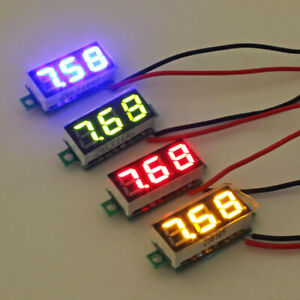 5x Mini Dc 2 5v 30v Digital Led Voltmeter Voltage Tester Meter Waterproof
