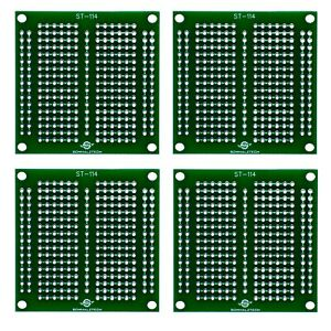 4 Pack Diy Proto Perf Board Permanent Breadboard With Solder Mask 2 x2 St 114