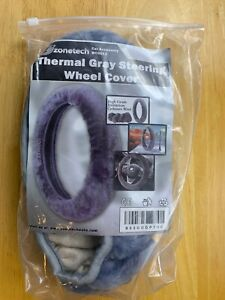 Thermal Gray Steering Wheel Cover purple