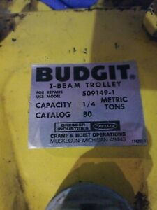 Budgit I beam Manual Trolley 1 4 Metric Ton