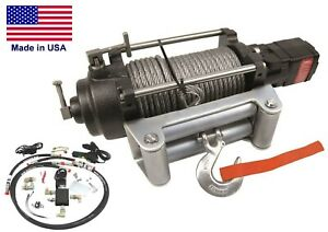 Hydraulic Winch For Ford Explorer 12 000 Lbs Cap Waterproof Reversible