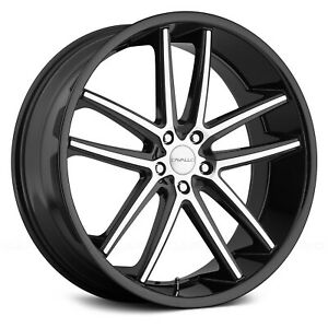 Cavallo clv 4 Gloss Black Machined Face Set Of 4 20 x10 42offset 5x114 3