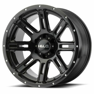 4 New 20x10 Helo He900 Gloss Black Wheel rim 6x139 7 20 10 6 139 7 Et 24