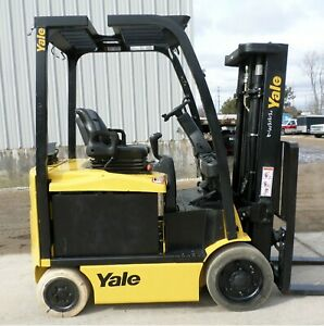 Yale Model Erc050vg 2013 5000 Lbs Capacity Great 4 Wheel Electric Forklift
