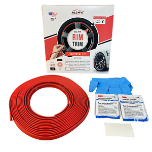 All fit Rim Trim red Universal Ring Molding Color Wheel Band Kit For Ford