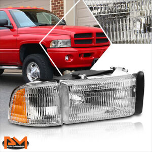 For 94 02 Dodge Ram 1500 3500 Oe Replacement Chrome Housing Headlight lamp Right