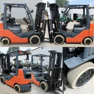 Toyota Model 8fgcu25 2011 5000 Lbs Capacity Great Cushion Tire Forklift