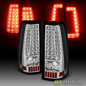 2003 2006 Chevy Silverado 1500 2500hd 3500hd C Stirp Led Tail Lights Brake Lamps