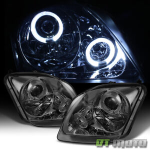 For Smoke 97 02 Honda Prelude Led Halo Projector Headlights Headlamps Left Right