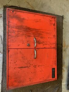 Snap on Red Steel wall Tool Cabinet For Tool Boards Etc
