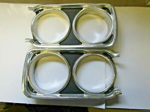 Mopar 68 Satellite Roadrunner Gtx Headlight Bezels 1968