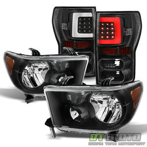For Black 2007 2013 Toyota Tundra Headlights led Tail Lights Brake Lamps 07 13