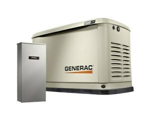 Generac 16 16kw Air cooled Standby Generator With 100 amp Transfer Switch