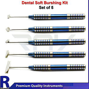 Dental Soft Brushing Kit Lingual Buccal Tissue Flap Surgery Implant Instruments