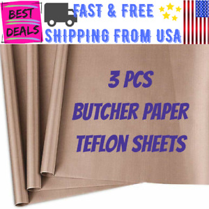 3 Pack Teflon Sheet 16x20 Heat Press Heat Transfer Butcher Paper Non Stick Safe