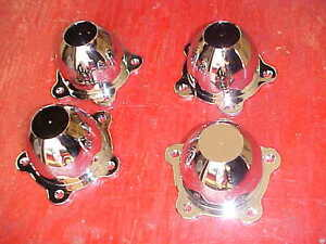 American Torque Thrust Type Center Wheel Caps Chrome 2 And 1 4 May Fit Others 32